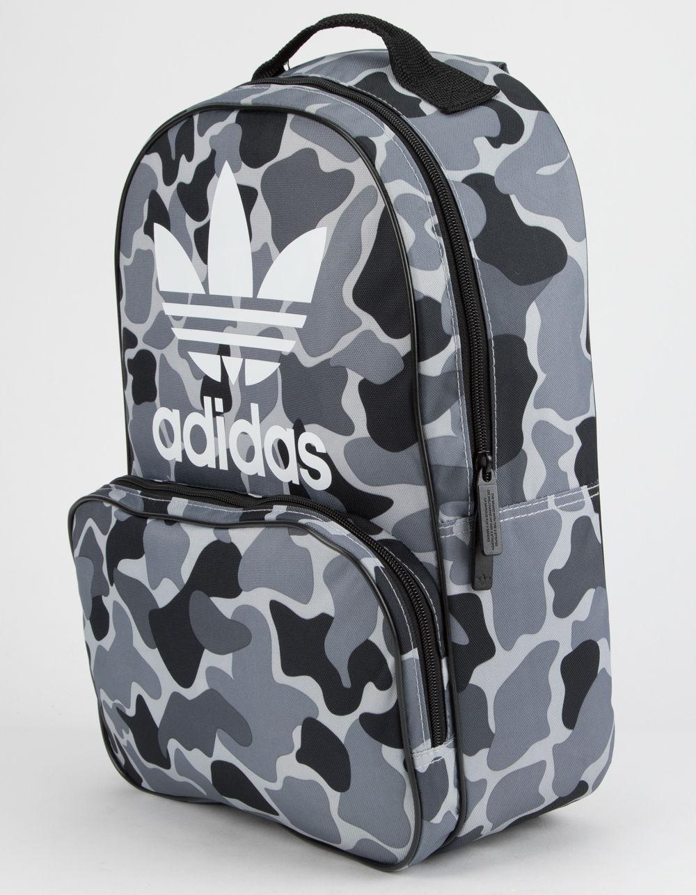 64c7178759f Lyst - adidas Originals Santiago Black Camo Backpack in Black for Men
