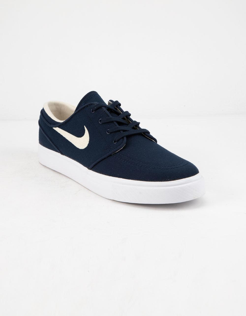 official photos e0245 8bc96 Lyst - Nike Zoom Stefan Janoski Canvas Obsidian   Light Cream Shoes in Blue  for Men