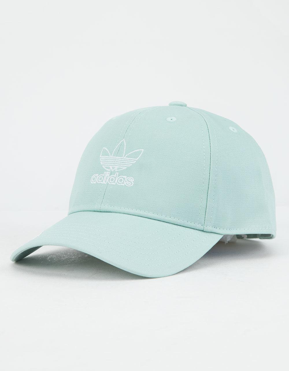 d7a9004684b Adidas - Originals Relaxed Outline Ash Green Womens Strapback Hat - Lyst.  View fullscreen