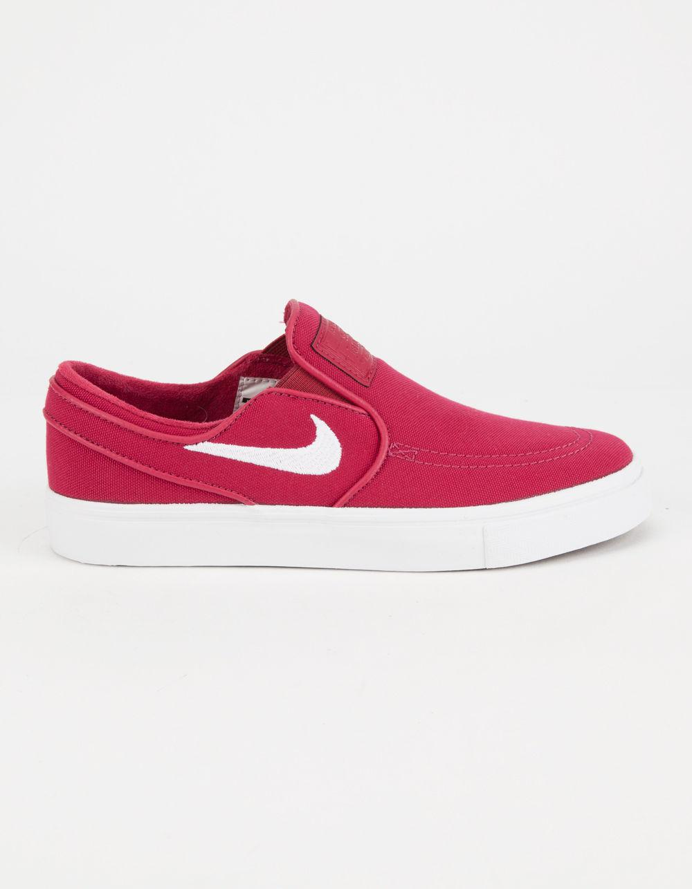watch 35e12 c10bc Nike Sb Zoom Stefan Janoski Slip-on Canvas Womens Shoes in Red - Lyst