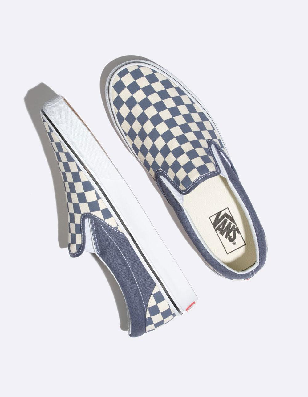 Vans - Checkerboard Grisaille   True White Classic Slip-on Shoes for Men -  Lyst. View fullscreen 7f2502848