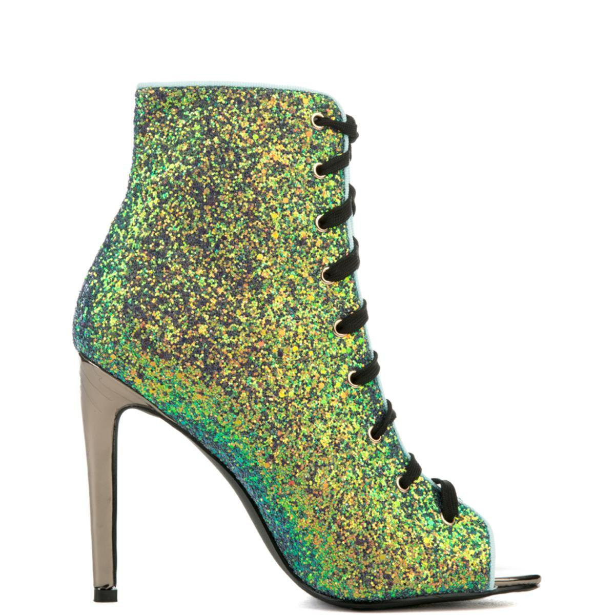 16144da8172 Lyst - Cape Robbin Olga-99 Blue Bootie in Green