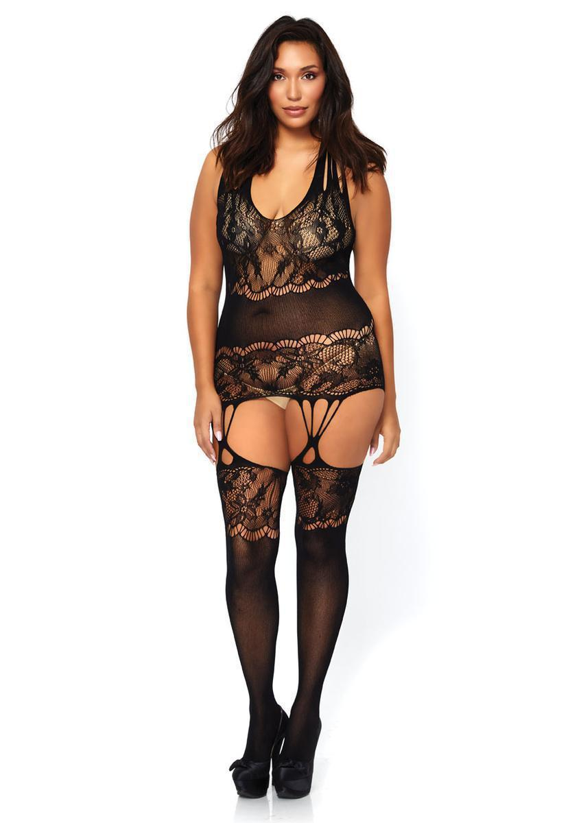 d572f7b12 Leg Avenue. Women s Black Seamless Floral Lace Opaque. From  22.95
