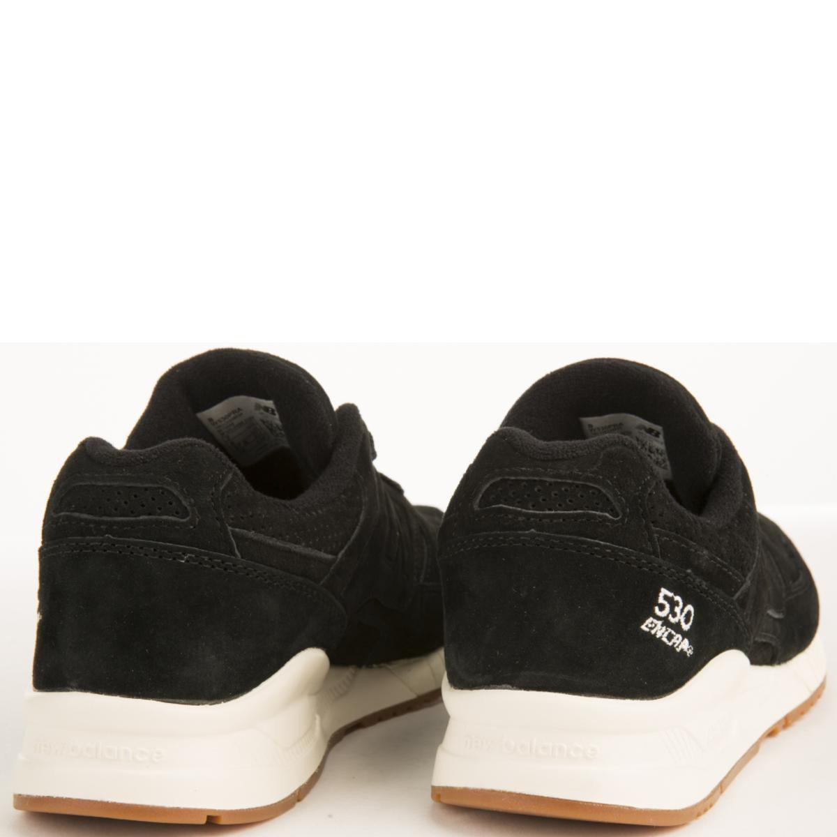 online retailer 2f6da 827d8 New Balance - 530 Lux Black Suede Sneakers - Lyst. View fullscreen