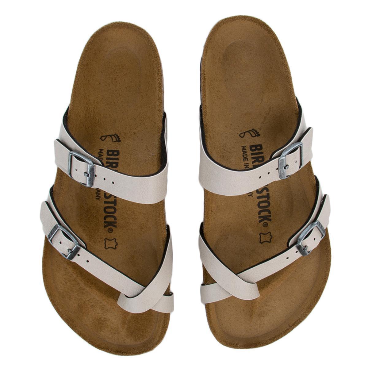 5e42d5014546 Birkenstock. Women s Mayari Birko-flor Pull Up Stone Sandals