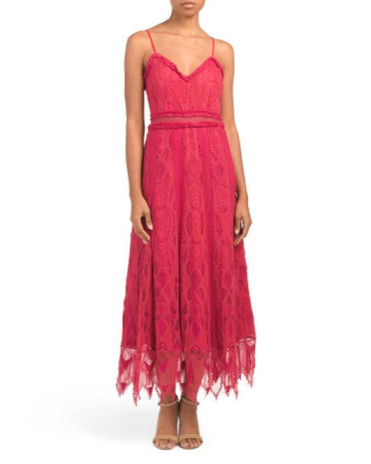 835c23a1ec6f Lyst - Tj Maxx Gloria Midi Dress in Red