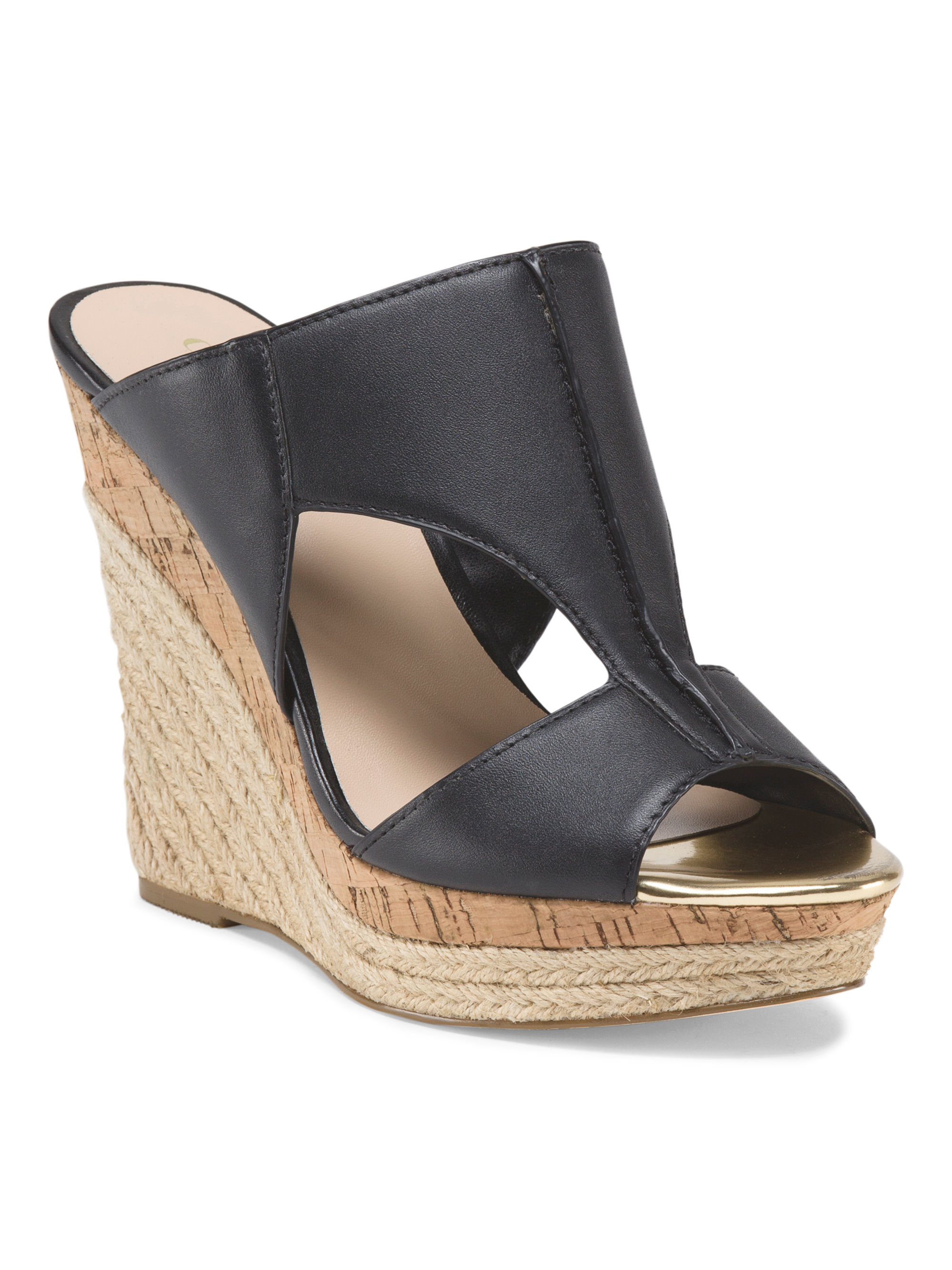 tj maxx leather abacus espadrille in black lyst