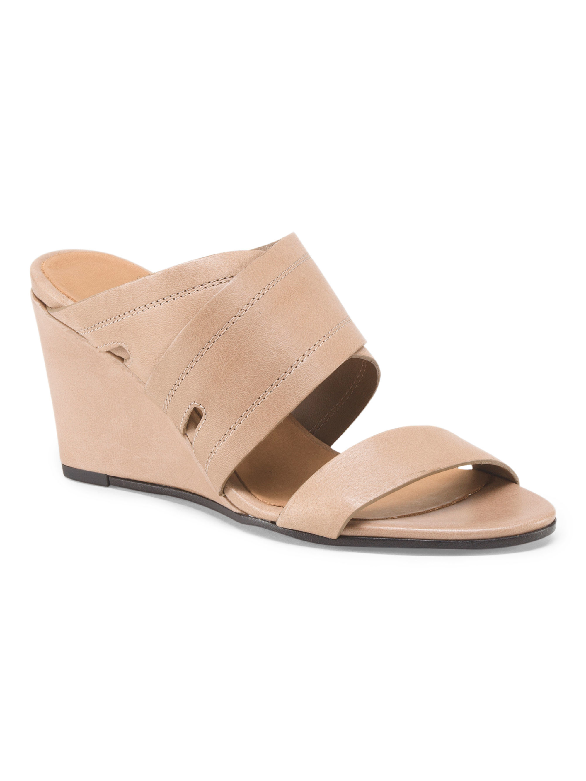 Tj Maxx Made In Italy Leather X Band Mule Wedge Lyst