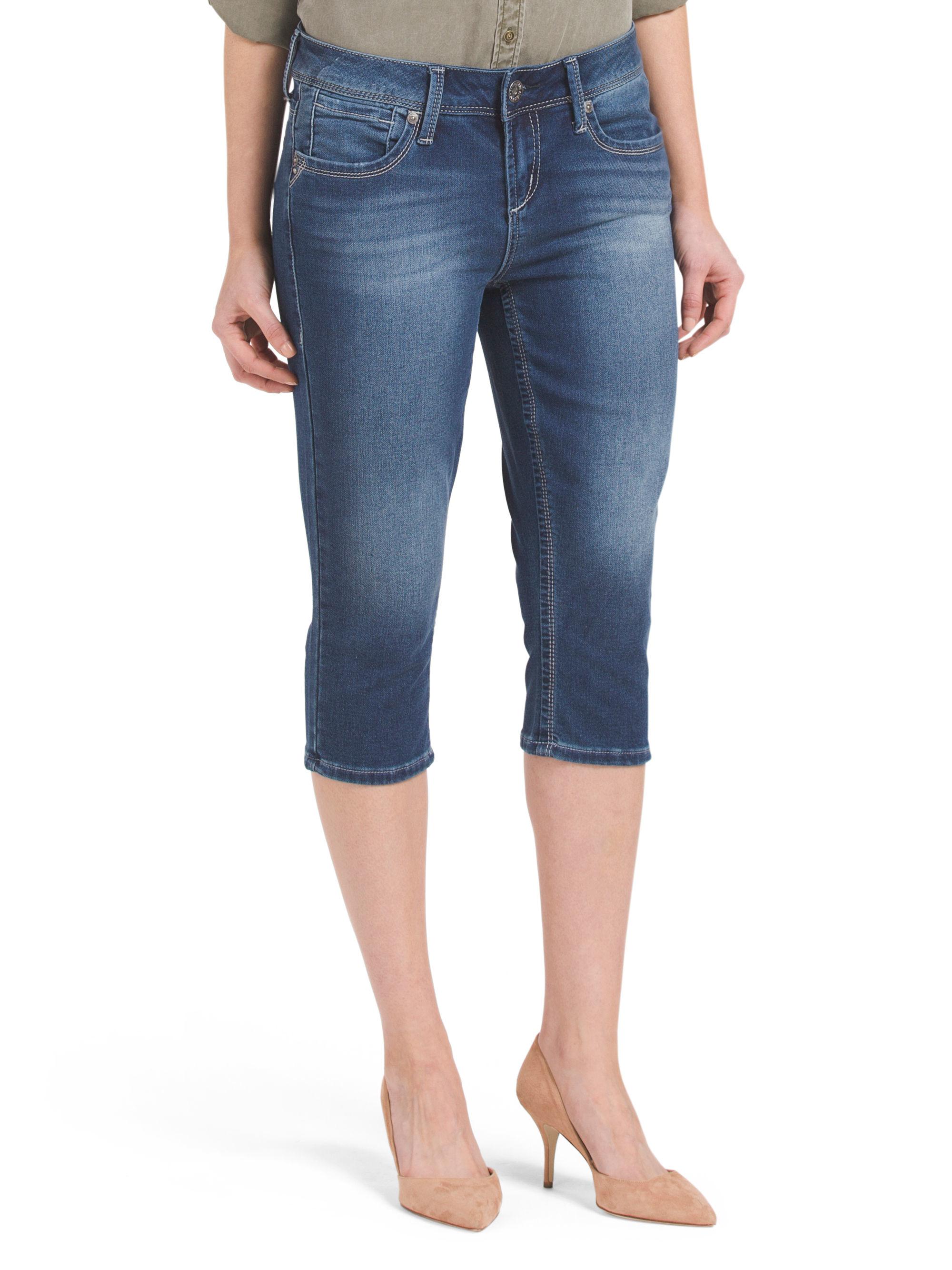 Tj Maxx Big Crop Jean In Blue Lyst