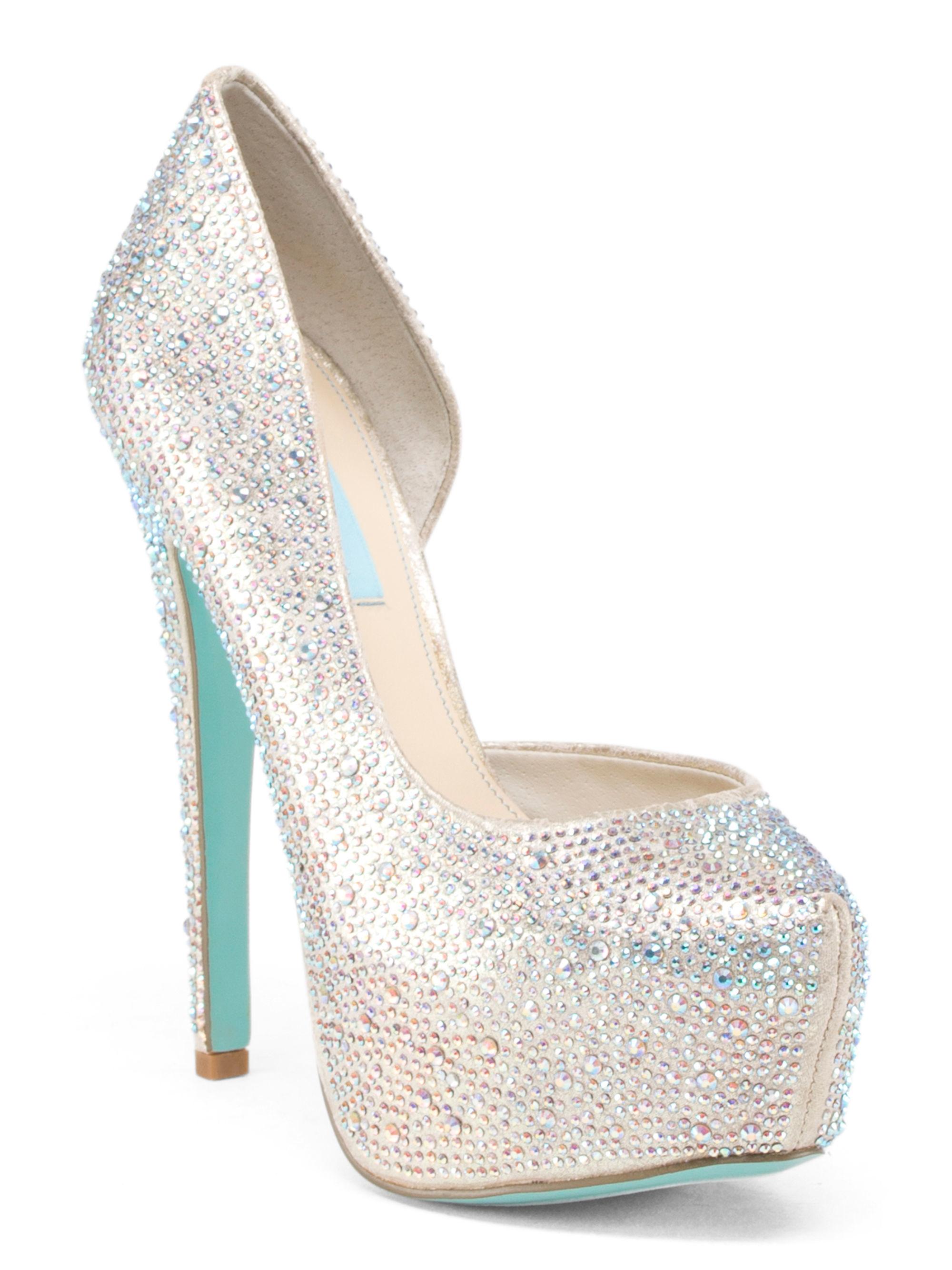 tj maxx dress heel in metallic lyst