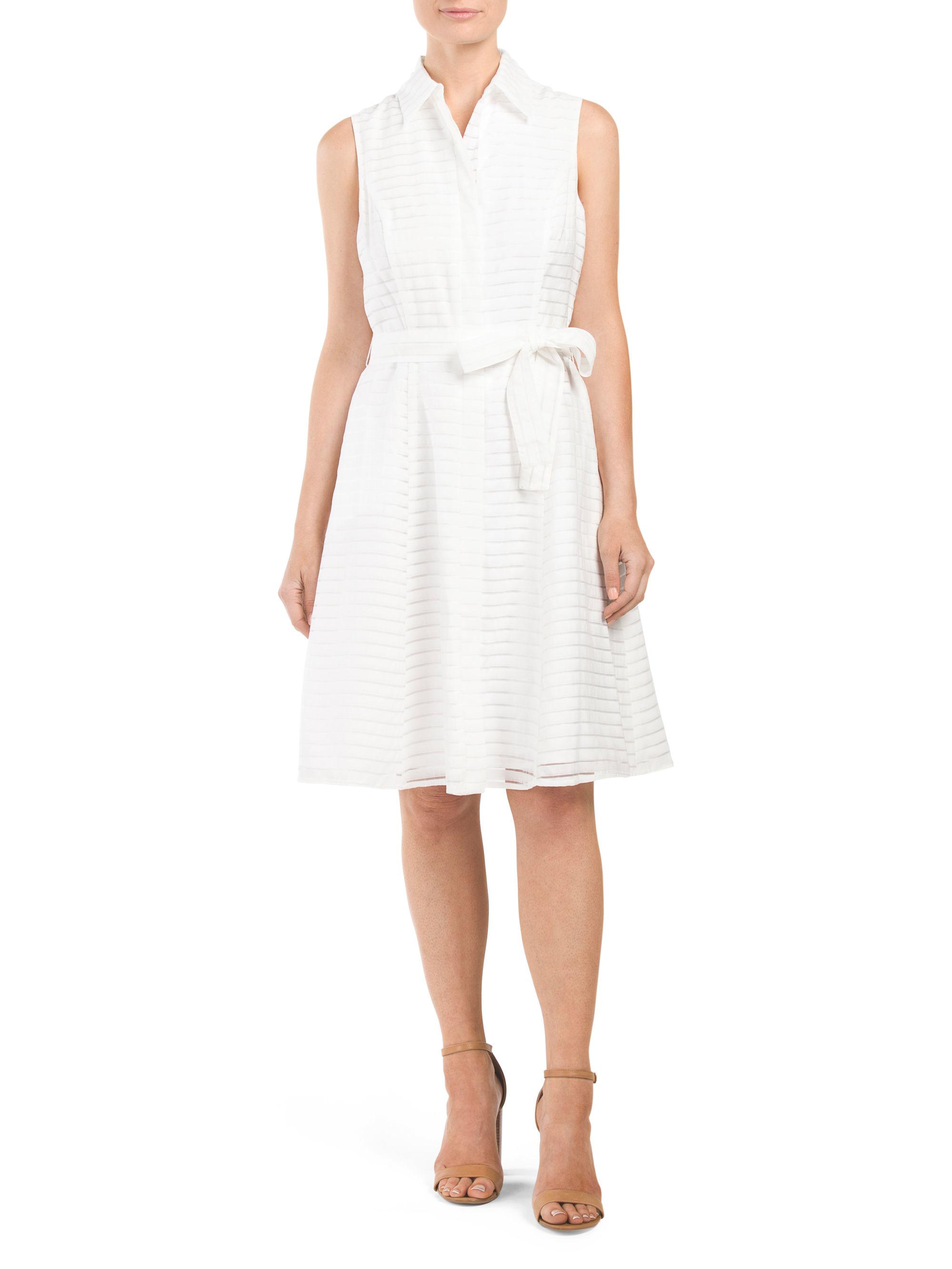 Tj maxx sleeveless illusion shirt dress in white lyst for Tj maxx t shirts