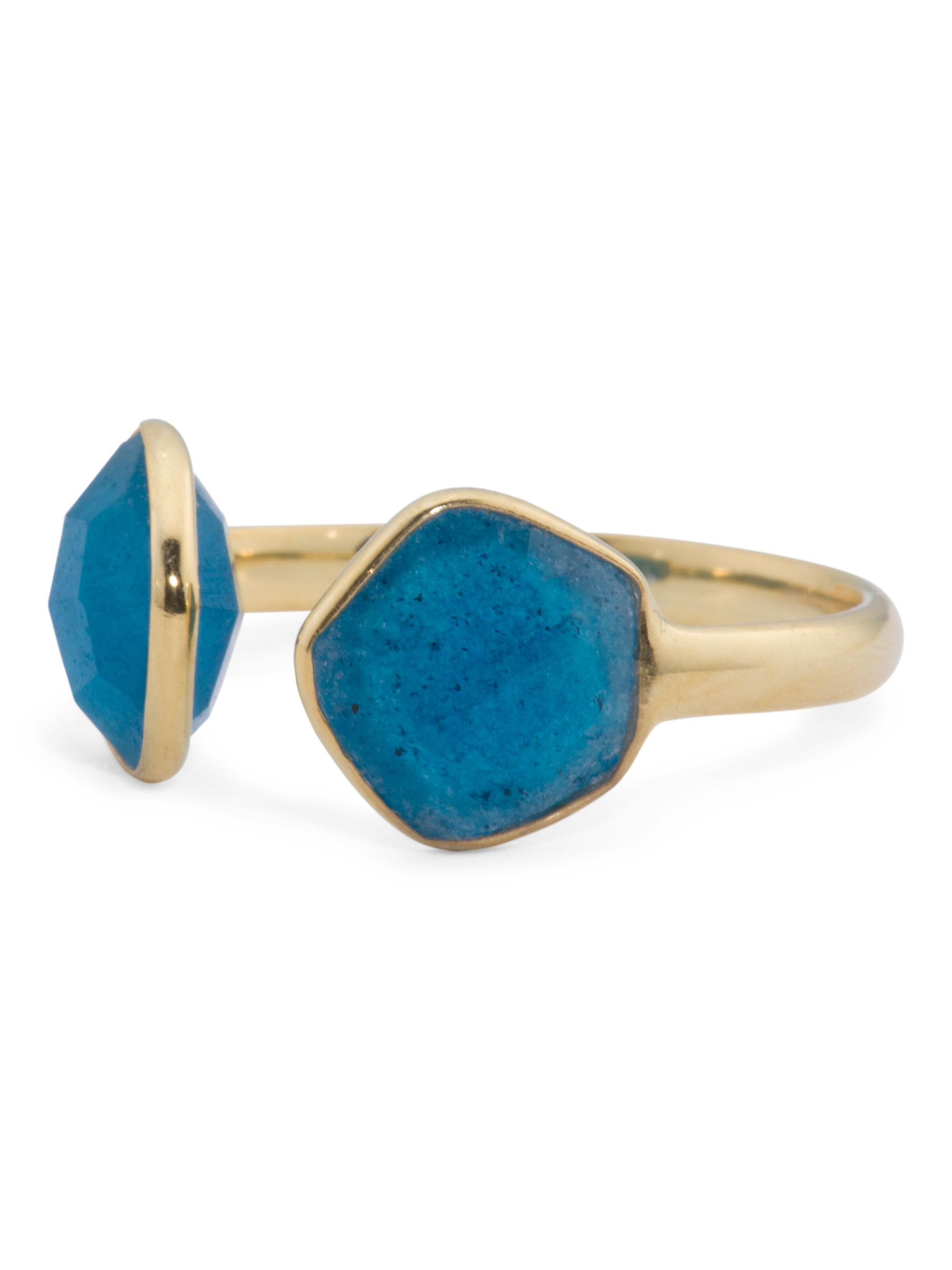 Tj maxx Made In India Sterling Silver Blue Aventurine Ring in Blue ...