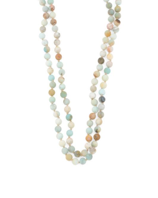 Lyst - Tj Maxx Sterling Silver Frosted Mint Quartzite ...