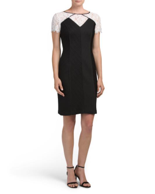 1fcb990fc64e0 Lyst - Tj Maxx Built In Shapewear Lace Dress in Black