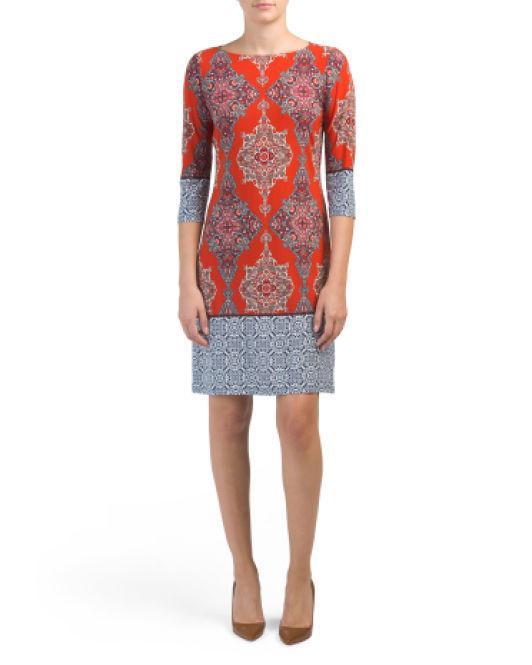 28b47355 Tj Maxx. Women's Petite Bordered Sheath Dress
