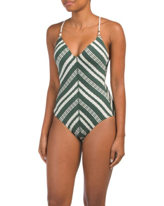 835ca94251b Tj Maxx. Women's 1pc Livvy V-neck Swimsuit