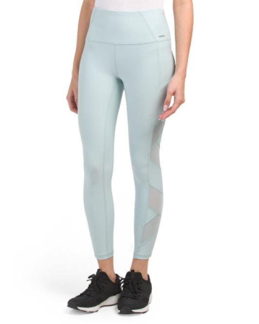 40d933eafb Lyst - Tj Maxx Ankle Leggings With Power Mesh in Blue
