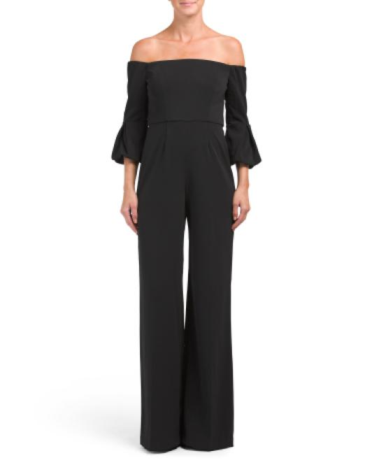 3a263e90030 Lyst - Tj Maxx Griffith Off The Shoulder Jumpsuit in Black