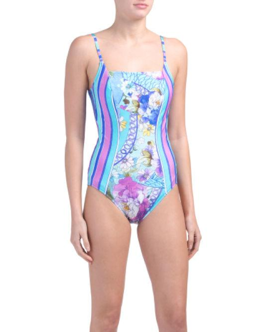 6a7b0702c00ae Lyst - Tj Maxx Samosir One-piece Swimsuit in Blue