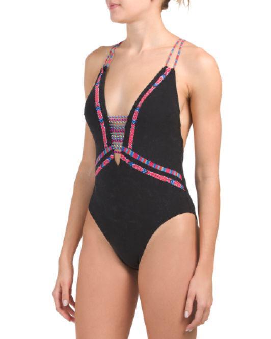 c71b5f802f09f Lyst - Tj Maxx Cha Cha Cha Goddess One-piece Swimsuit in Black