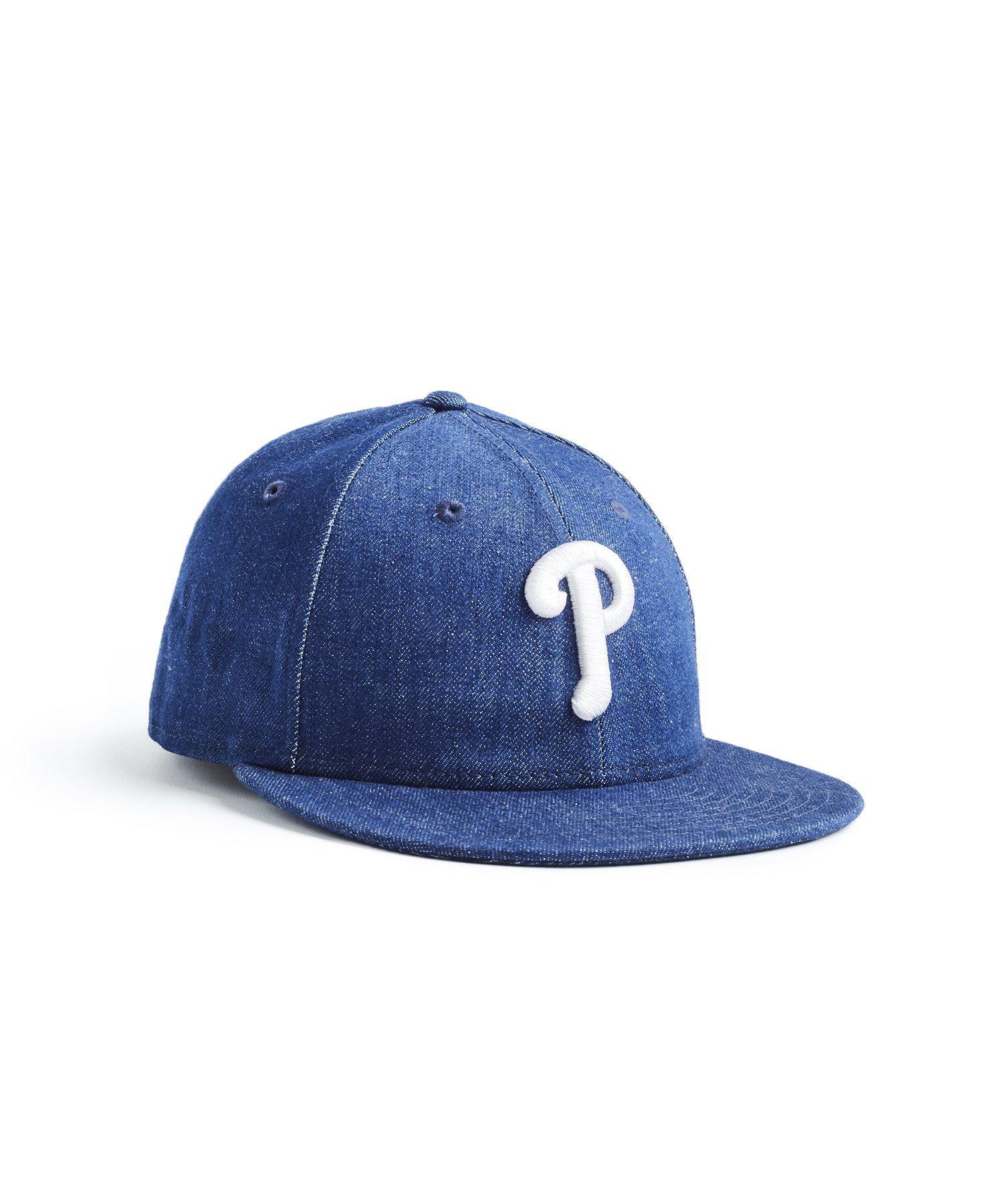 dc92f0e7797 Lyst - NEW ERA HATS Mlb Philadelphia Phillies Cap In Cone Denim in ...