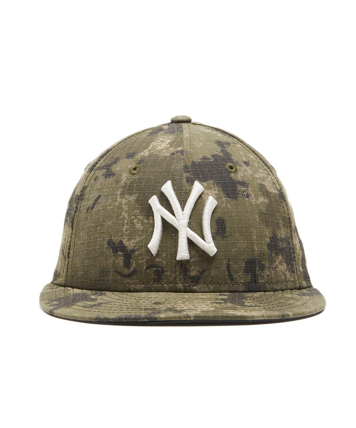 NEW ERA HATS New York Yankees Cap In Camo Ripstop in Green for Men ... ad14ba571fa4