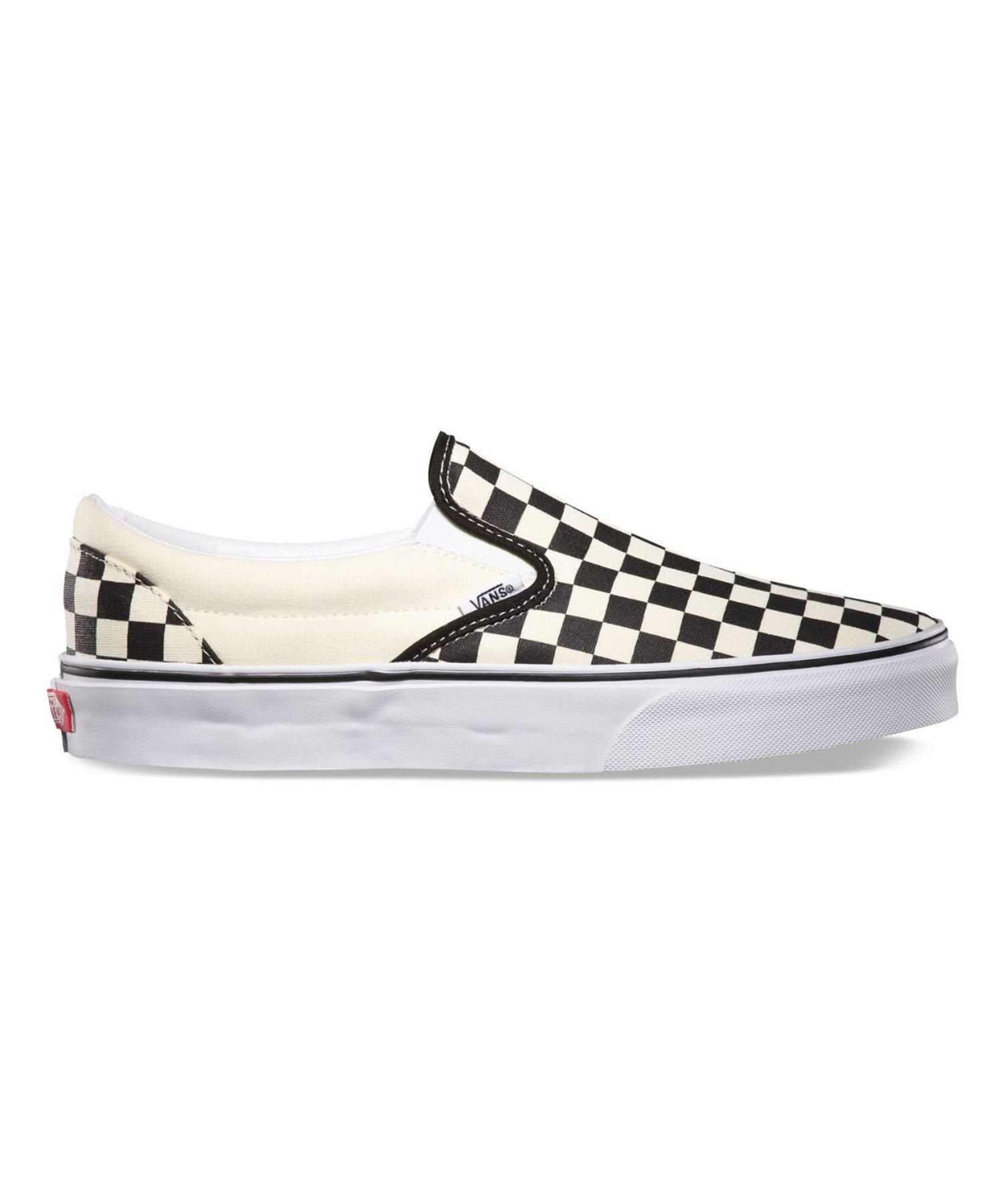 8c9e76cd3e49 Vans - Black Classic Checkered Slip On for Men - Lyst. View fullscreen