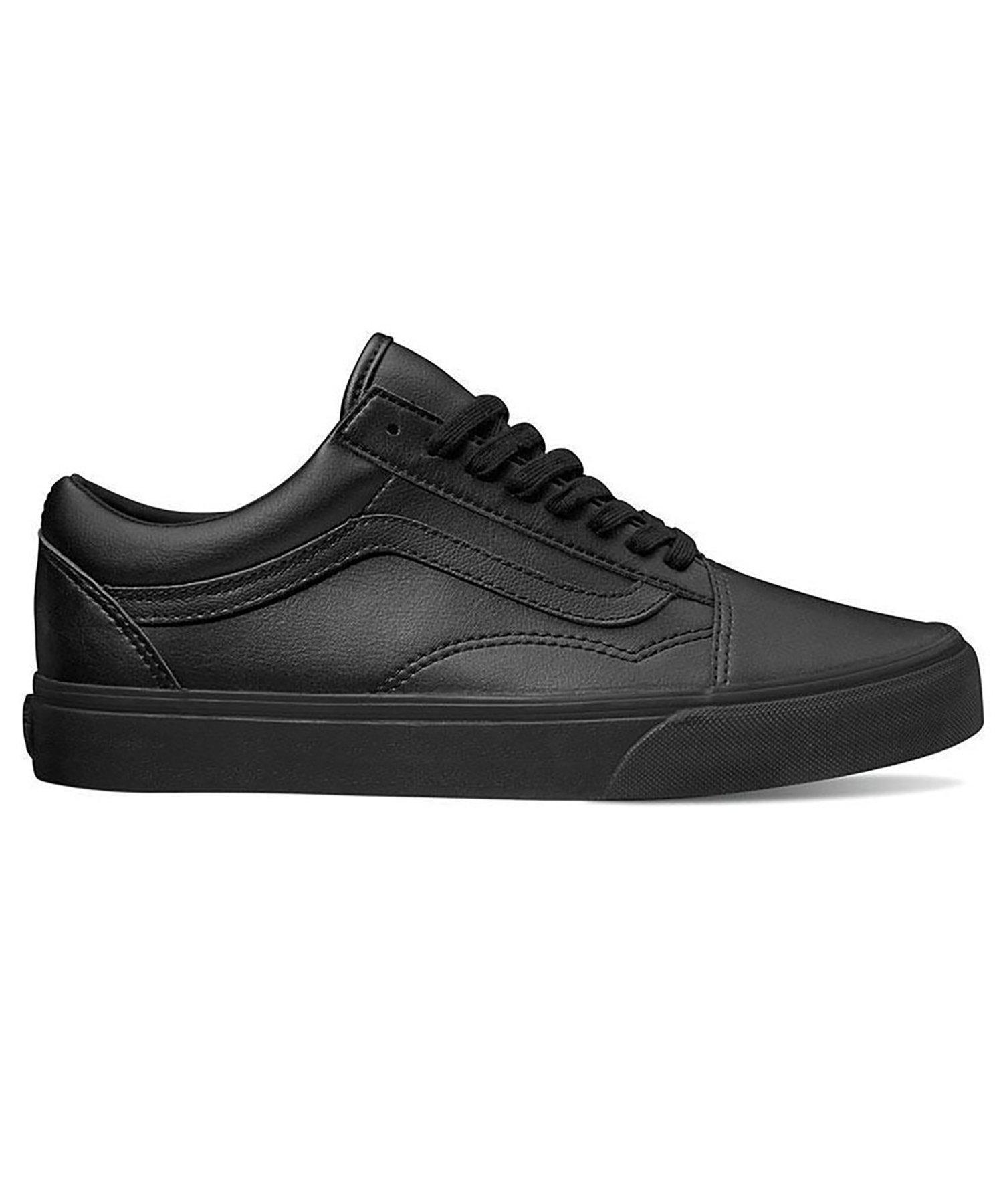 Lyst - Vans Old Skool In Black Mono Tumble Dry Leather in Black for Men 576ad297c