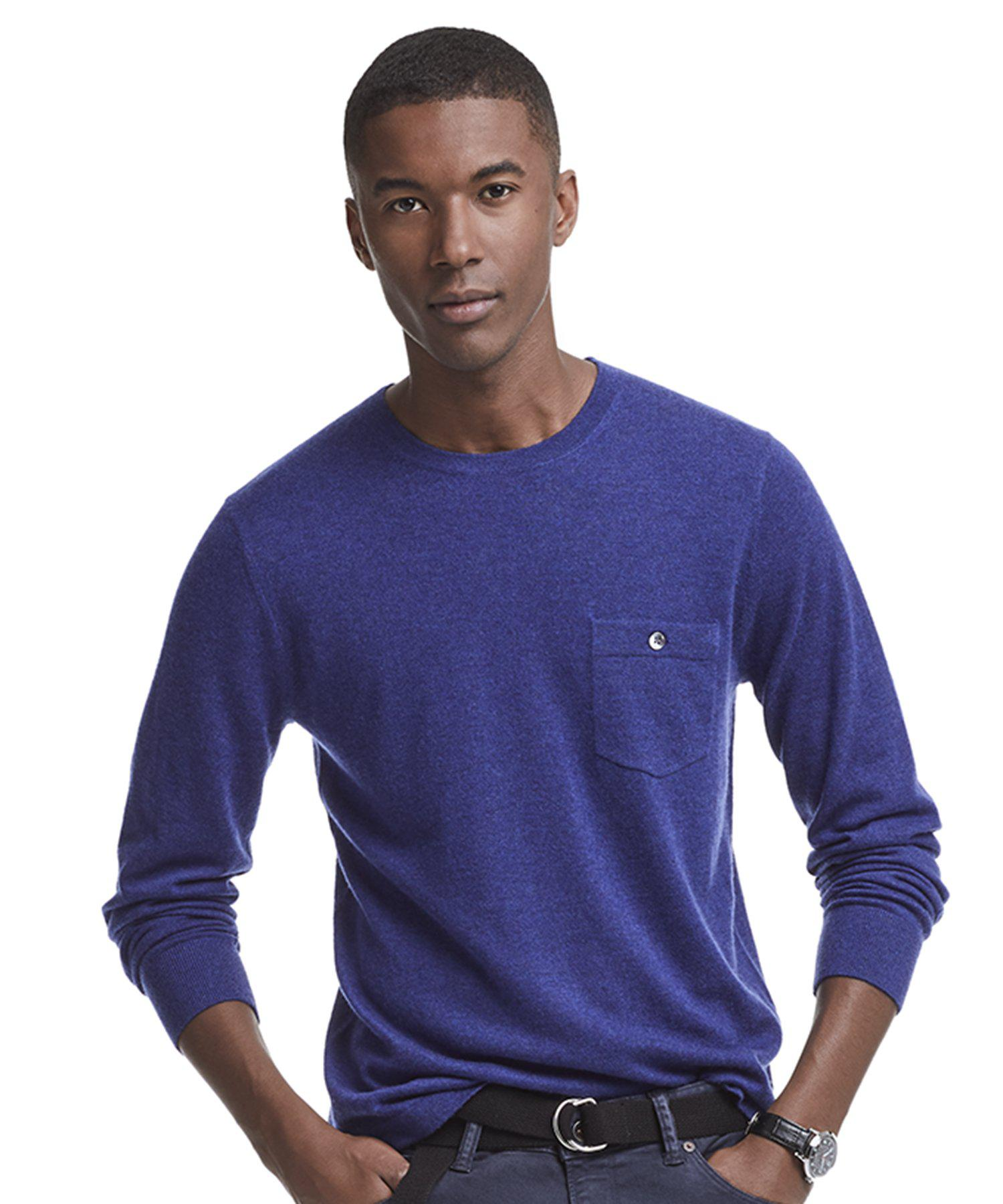 3ca9343a70741b Lyst - Todd Snyder Cashmere T-shirt Sweater In Blue Heather in Blue for Men