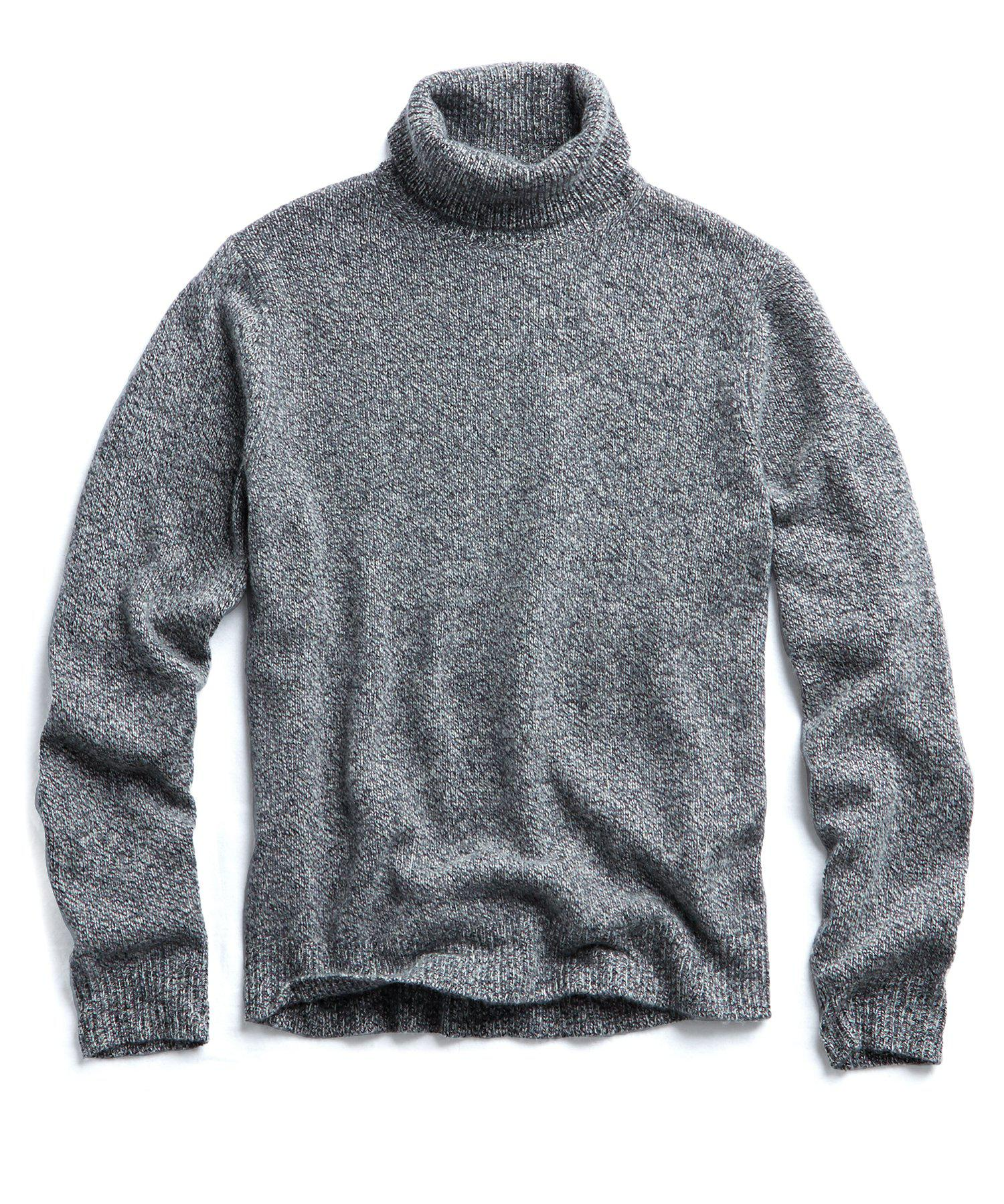 fe2be88b2 Todd Snyder Marled Chunky Cashmere Turtleneck In Grey Heather in ...