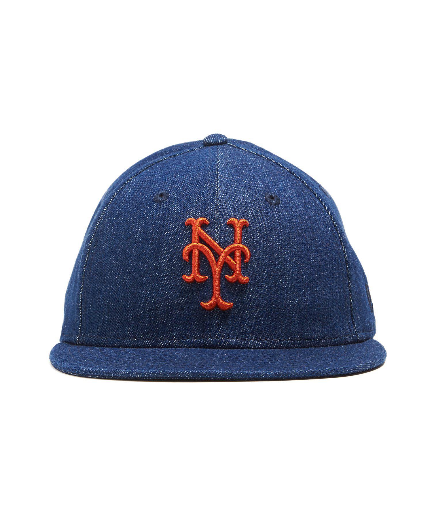 93a4114df13 Lyst - NEW ERA HATS Mlb New York Mets Cap In Cone Denim in Blue for Men
