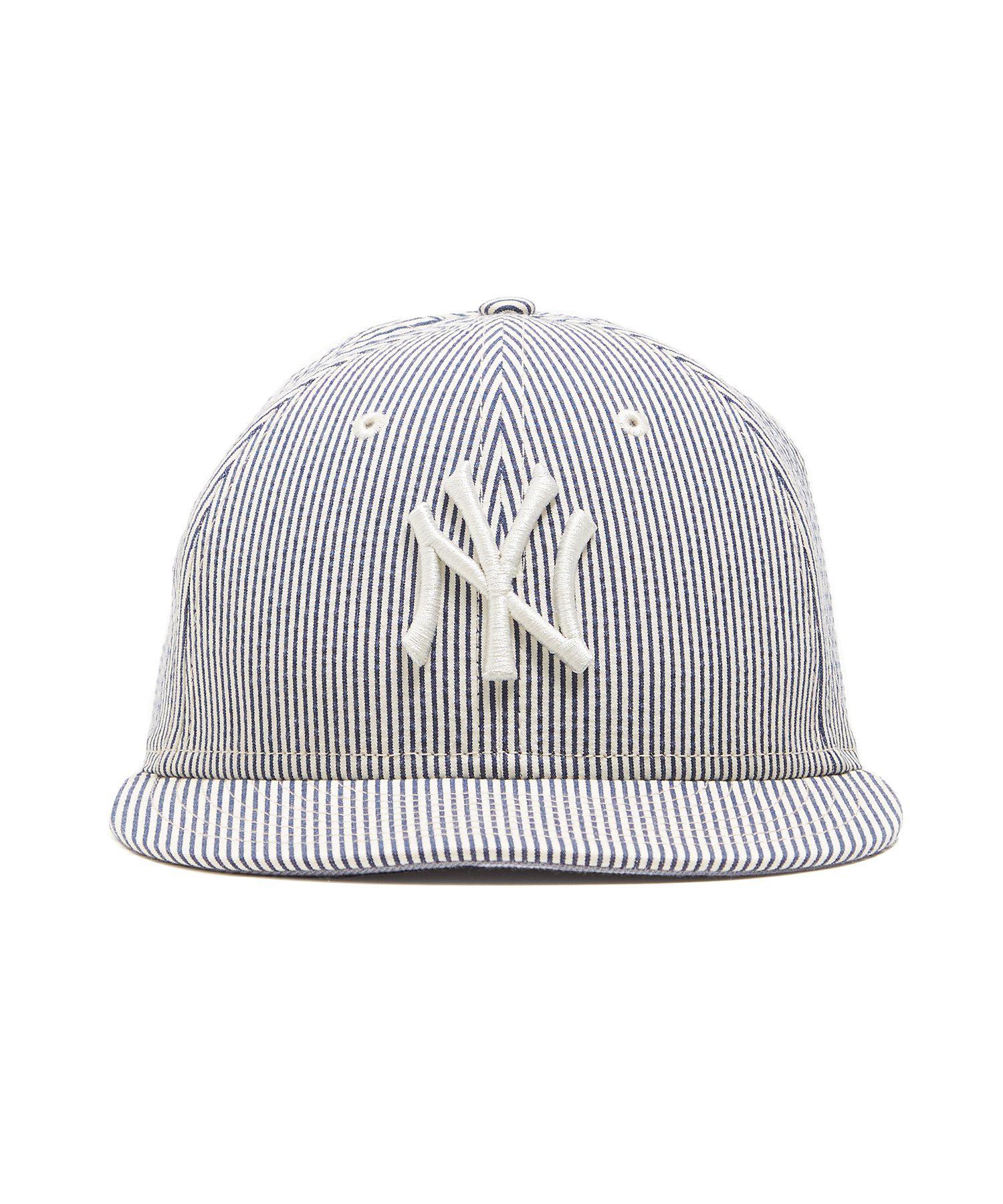 36694ed6ff2 Lyst - NEW ERA HATS New York Yankees Cap In Seersucker in Blue for Men