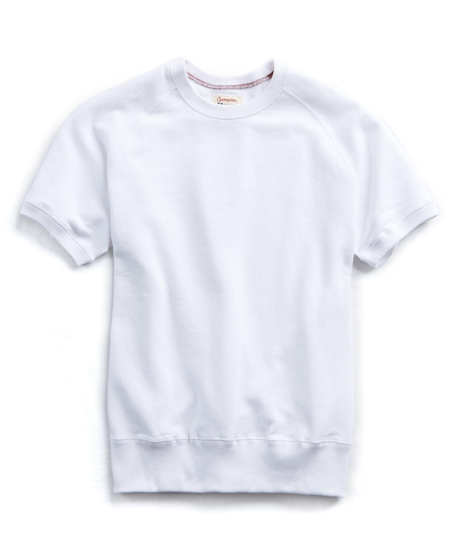 d629475a Todd Snyder Terry Short Sleeve Sweatshirt In White in White for Men ...