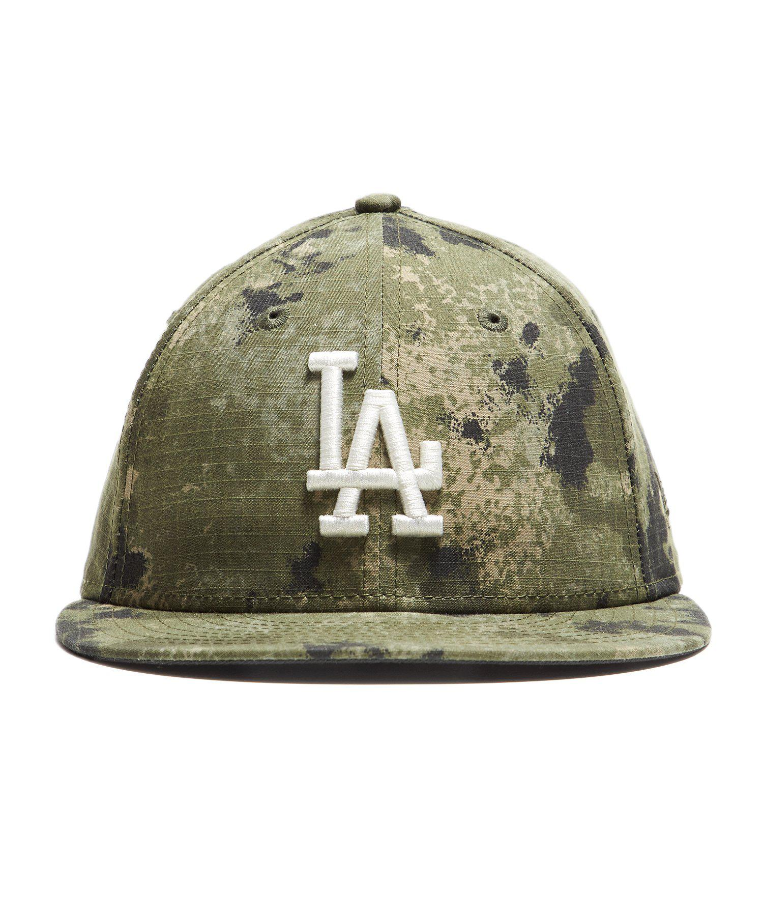 New Era Hats La Dodgers Cap In Camo Ripstop in Green for Men - Lyst f8f9d2123325