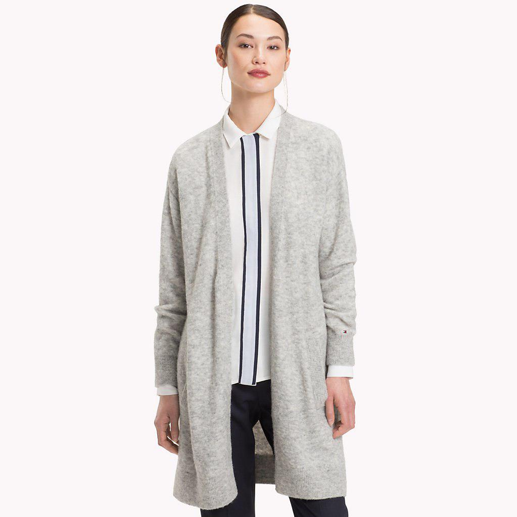 9dca5d03 Tommy Hilfiger Vallis Open Cardigan in Gray - Lyst