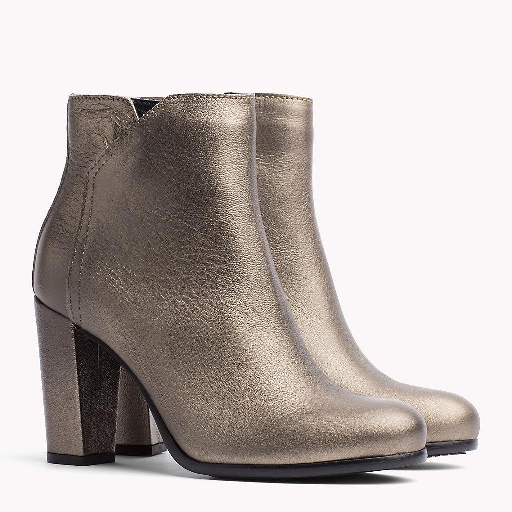 6fc5cf157417 Tommy Hilfiger Metallic Leather Ankle Boot in Metallic - Lyst