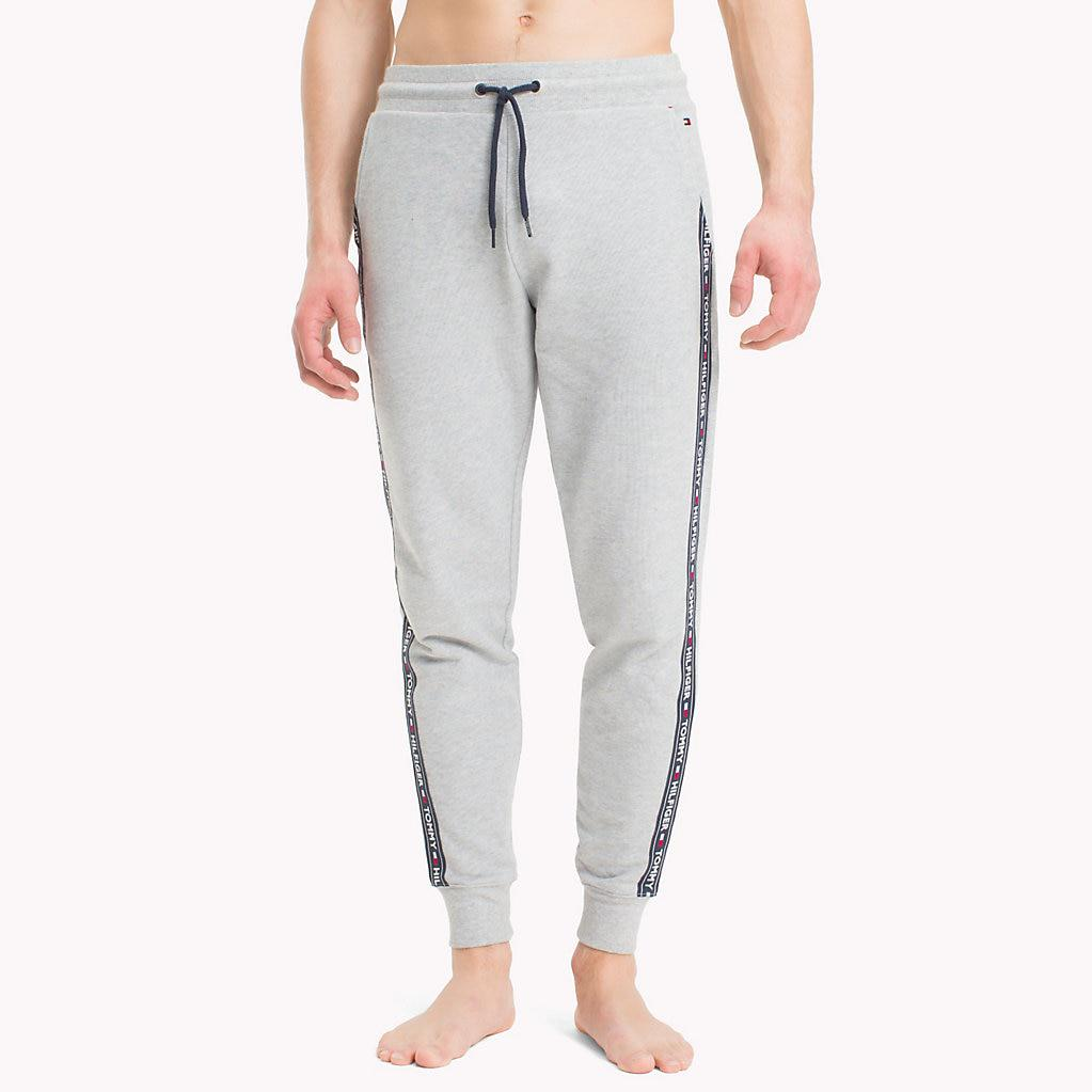 d7232c2583f Tommy Hilfiger Logo Strip Joggers in Gray for Men - Lyst