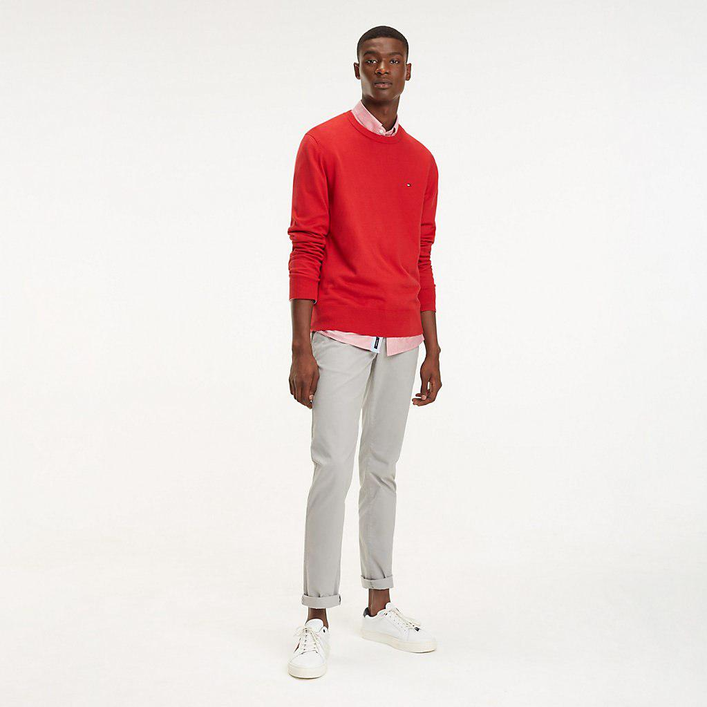 a532850a8d Tommy Hilfiger Cool Comfort Crew Neck Jumper in Red for Men - Save ...