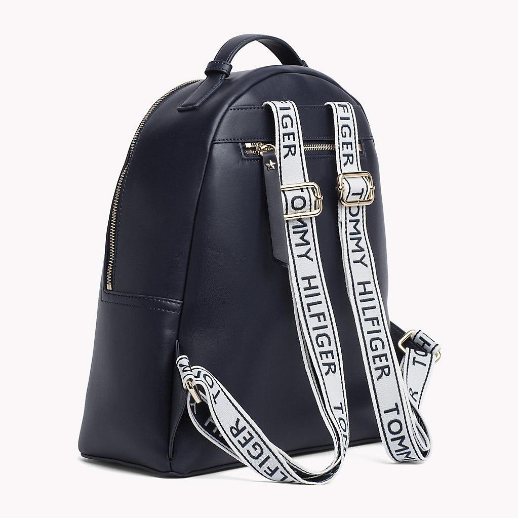 3aa7dbe517c Tommy Hilfiger Iconic Logo Strap Backpack in Blue - Lyst