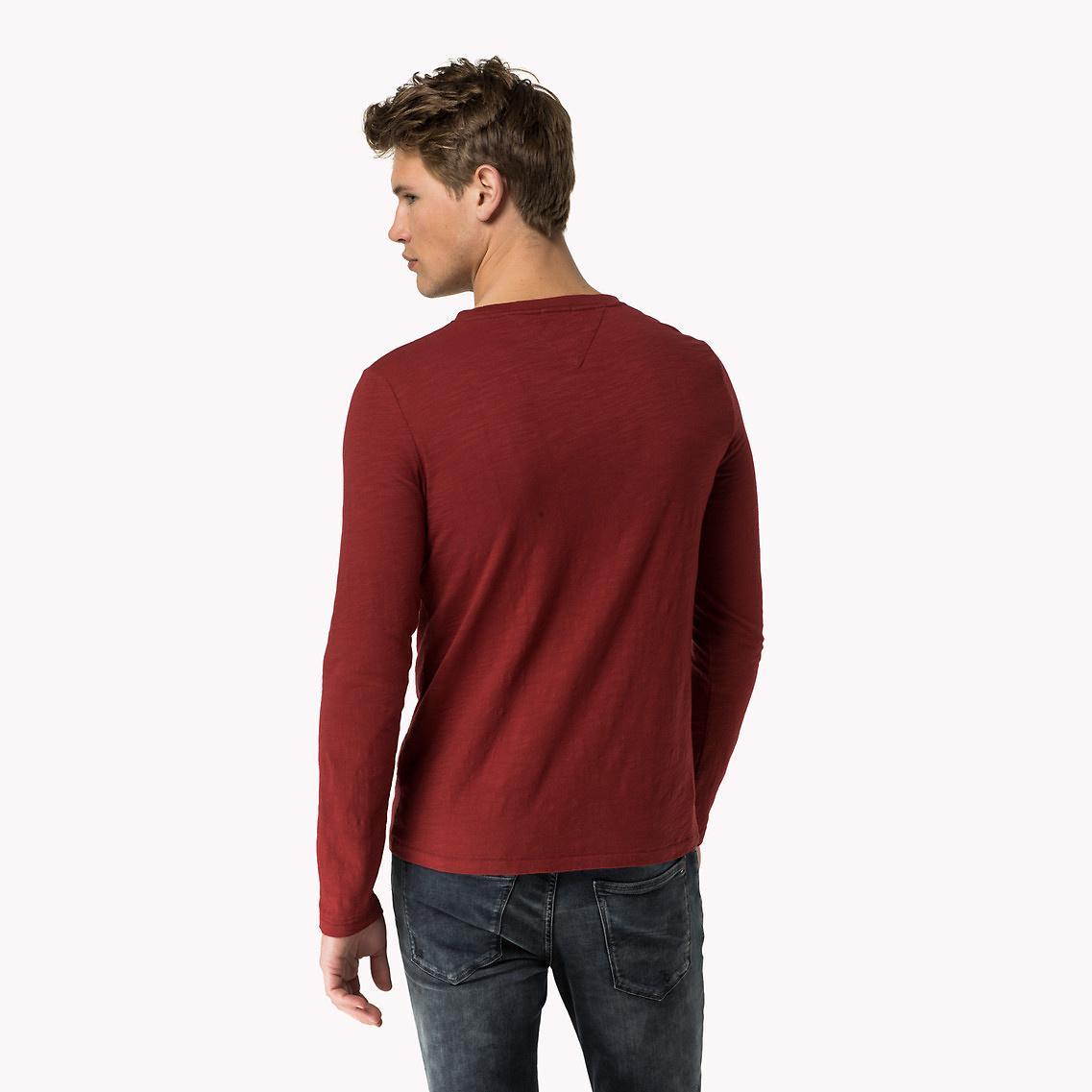 lyst tommy hilfiger hilfiger denim t shirt in red for men. Black Bedroom Furniture Sets. Home Design Ideas