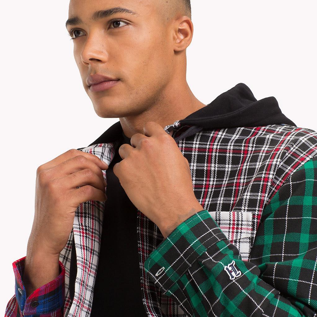 028ac6af Tommy Hilfiger Lewis Hamilton Plaid Hooded Shirt for Men - Lyst
