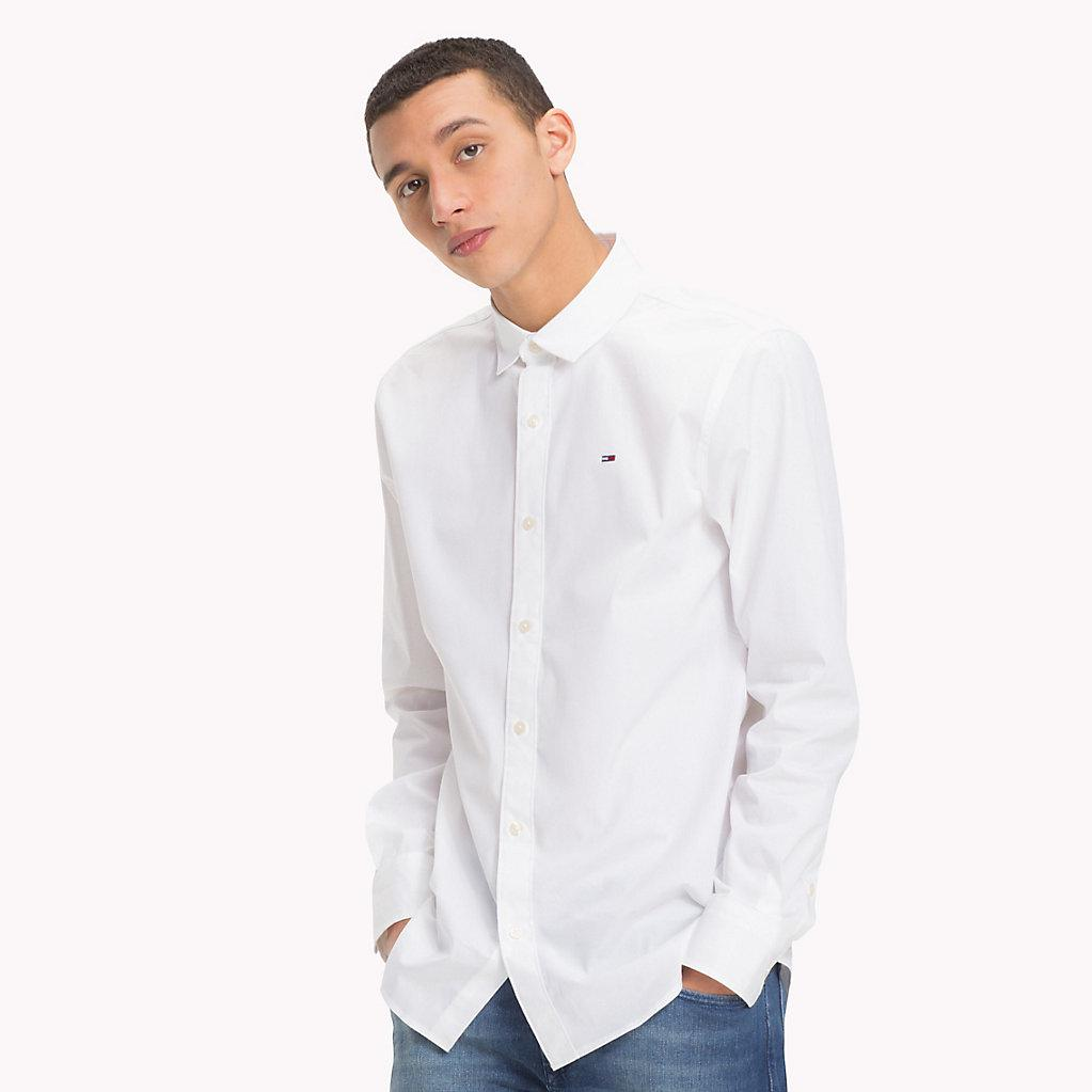 9b2f2920 Tommy Hilfiger White Slim Fit Dress Shirt – EDGE Engineering and ...