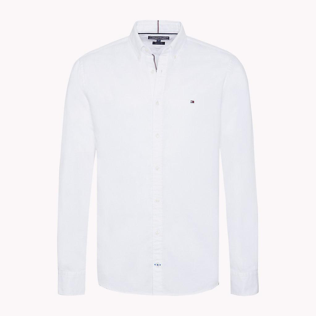 aadc772b6 Tommy Hilfiger Two-tone Dobby Shirt in White for Men - Lyst
