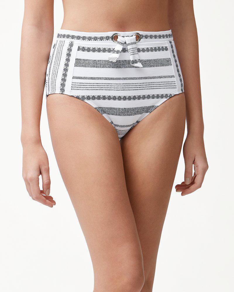 a6884e2c25 Tommy Bahama - Multicolor Sandbar Stripe Textured High-waist Bikini Bottoms  - Lyst