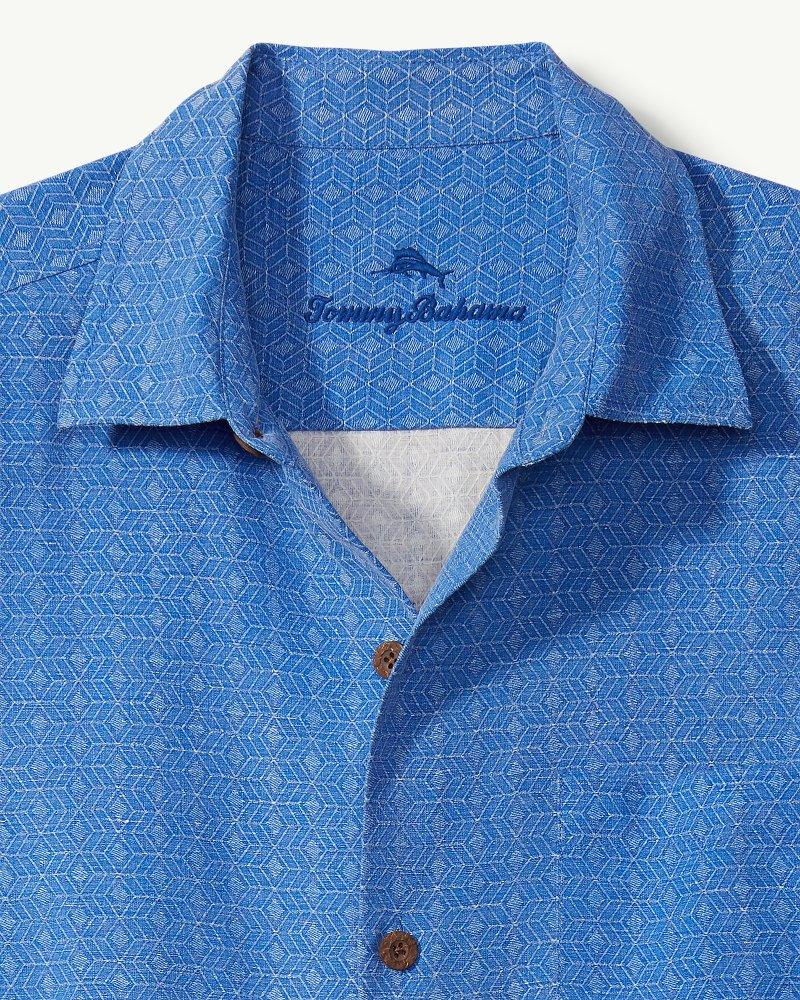 0fb695c9f14 Lyst - Tommy Bahama Dimensional Diamond Camp Shirt in Blue for Men