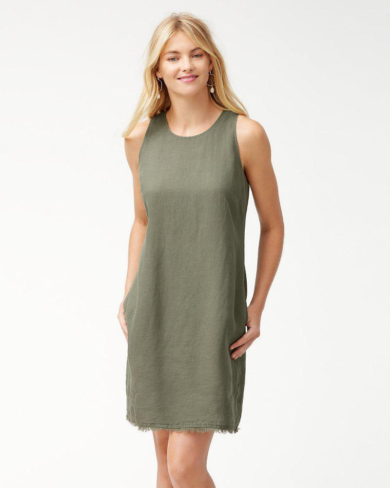 ad92466ae1 Lyst - Tommy Bahama Two Palms Linen Shift Dress in Green