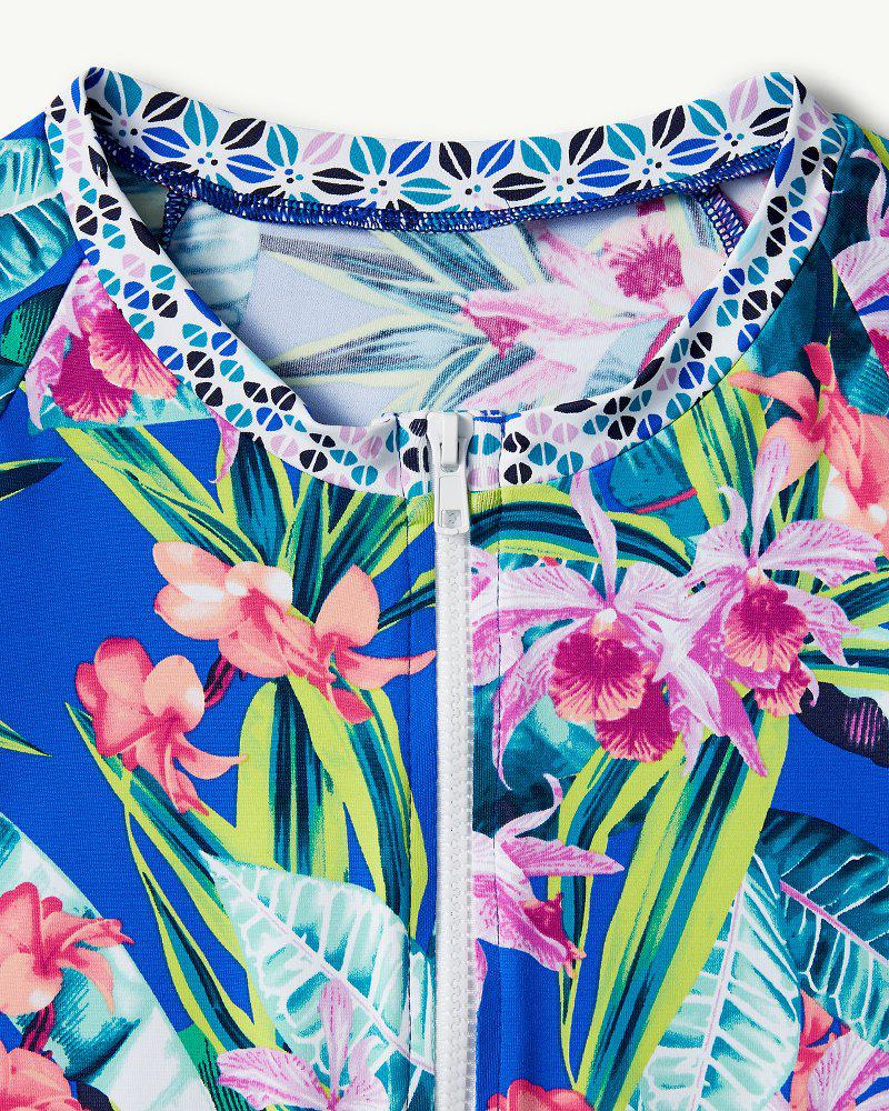 87c4a8777b Tommy Bahama Orchid Groves Full-zip Rash Guard in Blue - Lyst