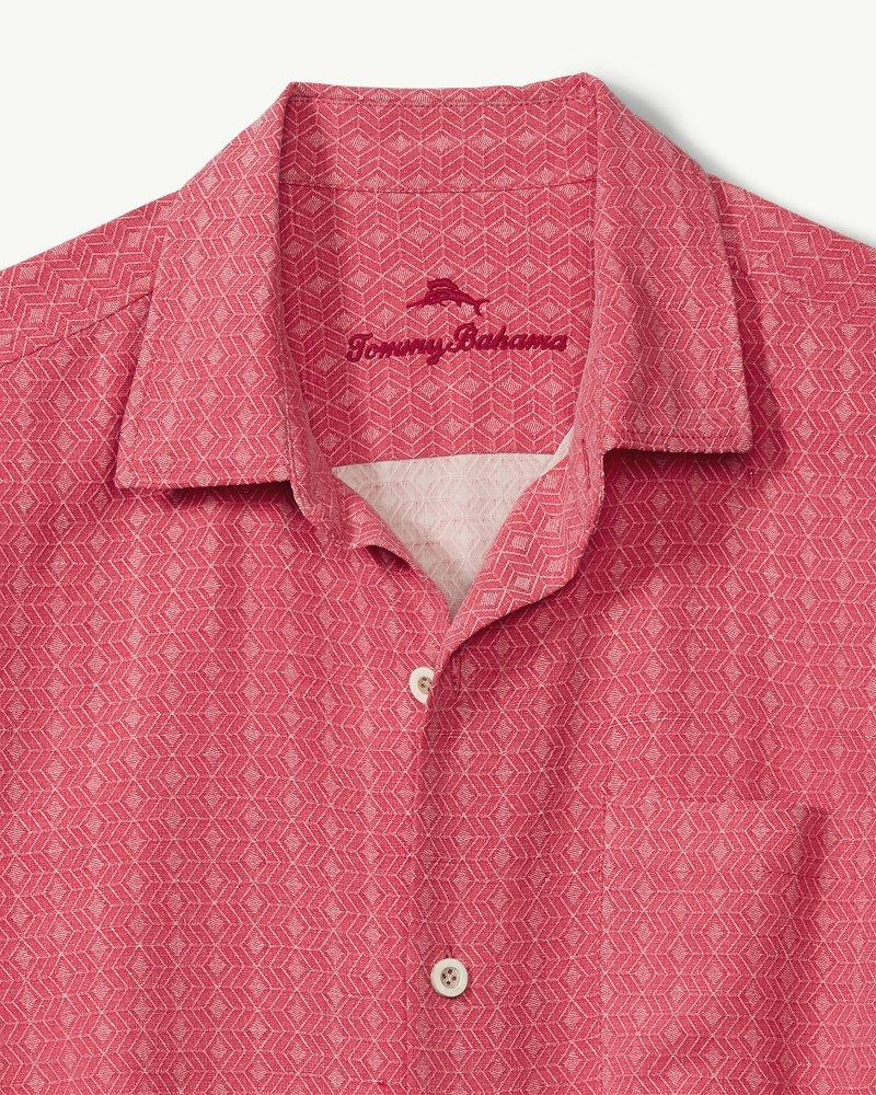 67ba6db7be8 Lyst - Tommy Bahama Dimensional Diamond Camp Shirt in Pink for Men - Save  18%