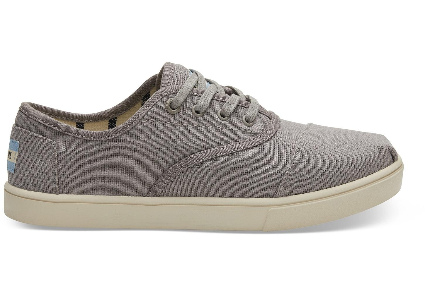 8cb47d9a46c TOMS. Gray Morning Dove Heritage Canvas Women s Cupsole Cordones Sneakers  Venice Collection