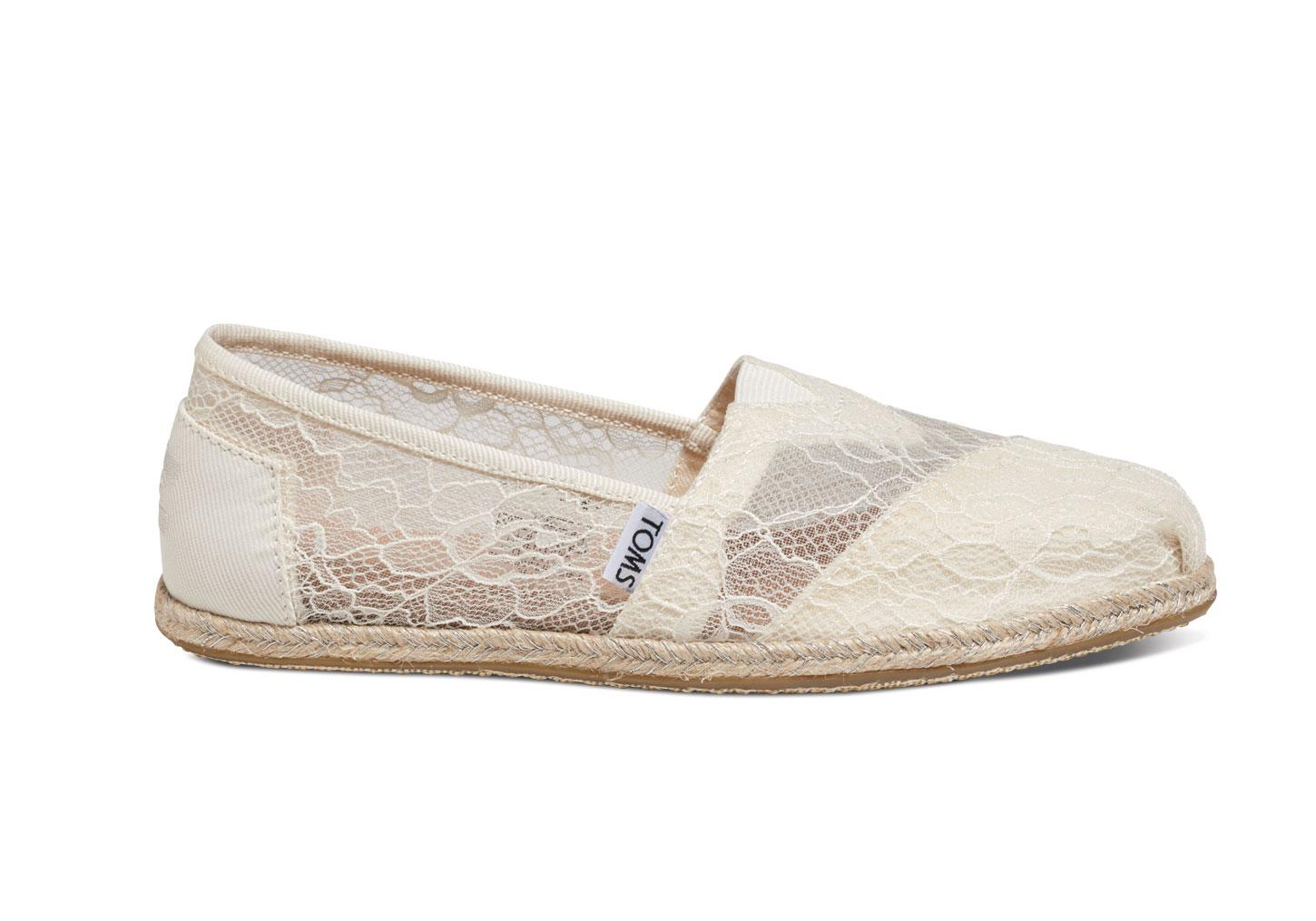 cfb3f3149 TOMS White Lace Rope Women's Espadrilles in White - Lyst